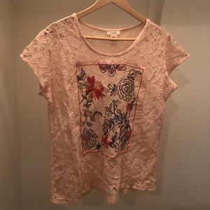 Sundance Lace Shirt with Flower Details